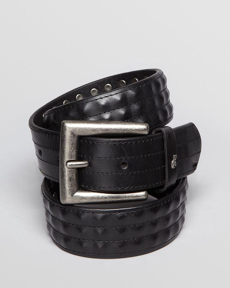 John Varvatos Covered Stud Leather Belt | Bloomingdale's