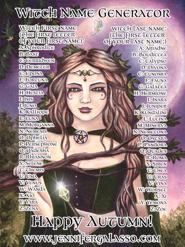 What's Your Witch Name?   Name Games & Other Fun Quizzes ... - photo#30
