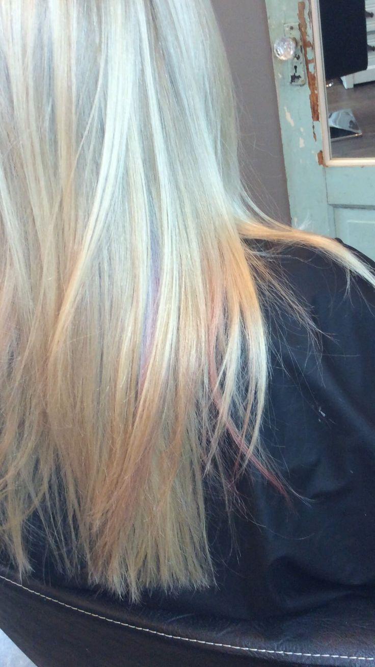 Iridescent peekaboo pastels
