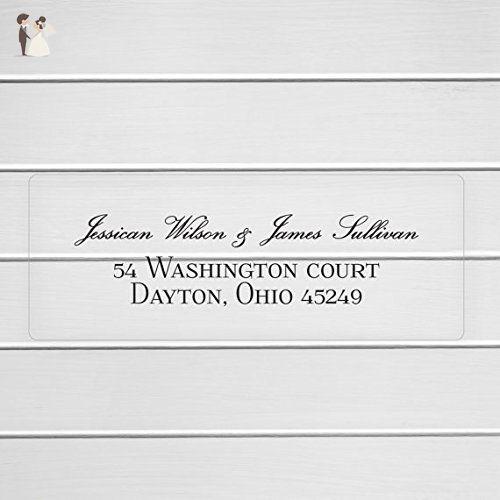 Wedding Invitation Return Address Clear Transparent Labels/Stickers (#311-C) - Wedding party invitations (*Amazon Partner-Link)