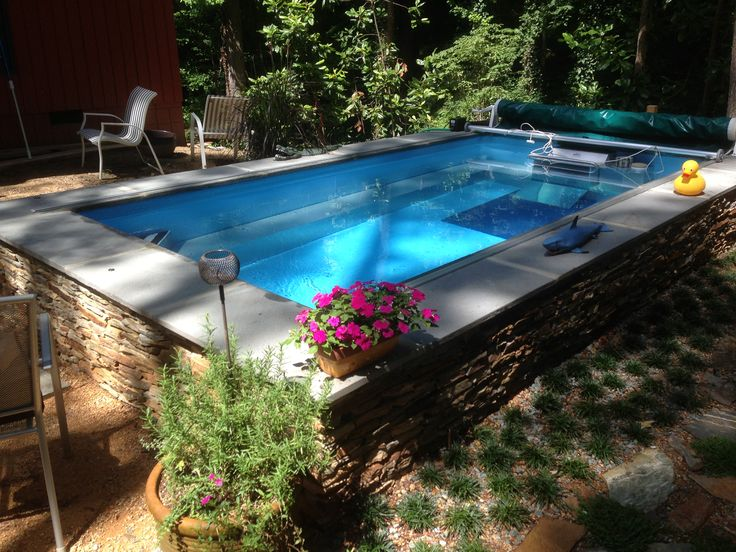 A little landscaping can create a wonderful accent to the Endless Pool.
