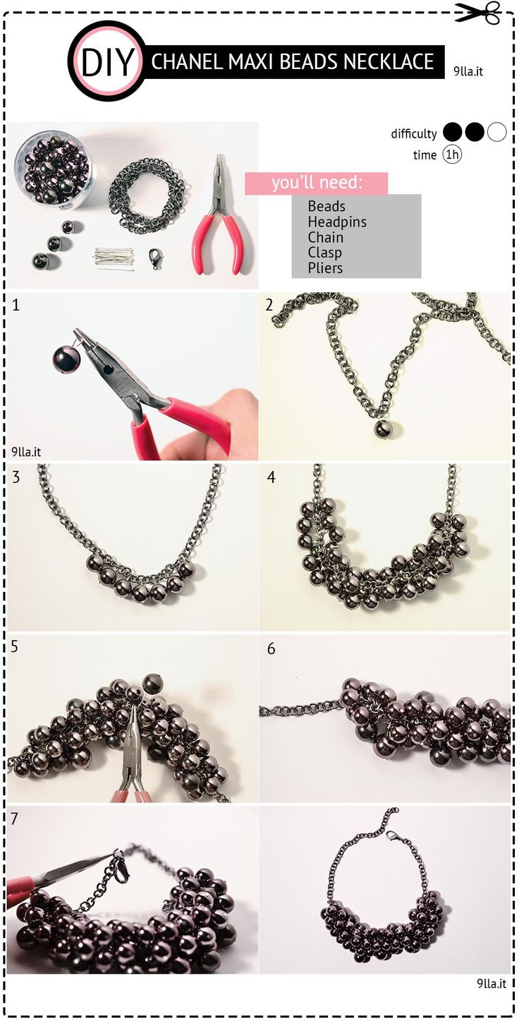 DIY Chanel Maxi Beads Necklace DIY Jewelry DIY Necklace