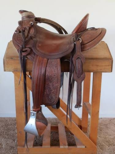 Mario Hanel 5/8 Single Rig Wade Ranch Saddle for Sale - For more information see ad #29139 on www.RanchWorldAds.com