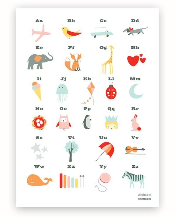 41 best Children's Alphabet Posters images on Pinterest ...