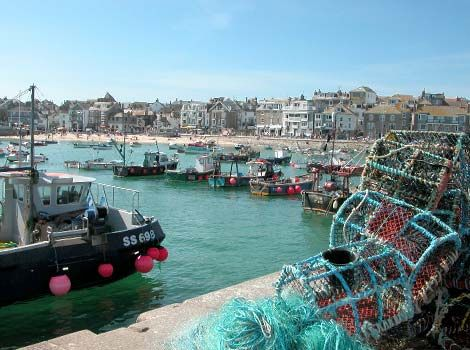 A view of St Ives harbour and fishing boats. #Cornwall