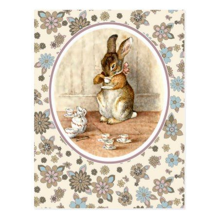 Vintage Bunny. Easter Postcards - tap, personalize, buy right now!