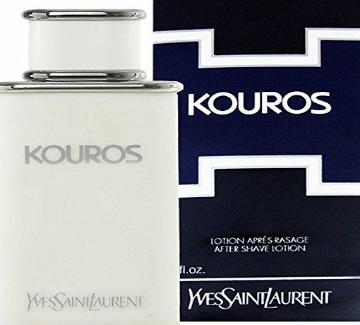 Yves Saint Laurent YSL Kouros After Shave Lotion 100 ml Yves Saint Laurent Kouros is the definition of masculinity, featuring a dynamic and powerful drive of animalic scents it envisions and empowers the idea of perfectly scul (Barcode EAN = 0794628275680) http://www.comparestoreprices.co.uk/december-2016-week-1/yves-saint-laurent-ysl-kouros-after-shave-lotion-100-ml.asp
