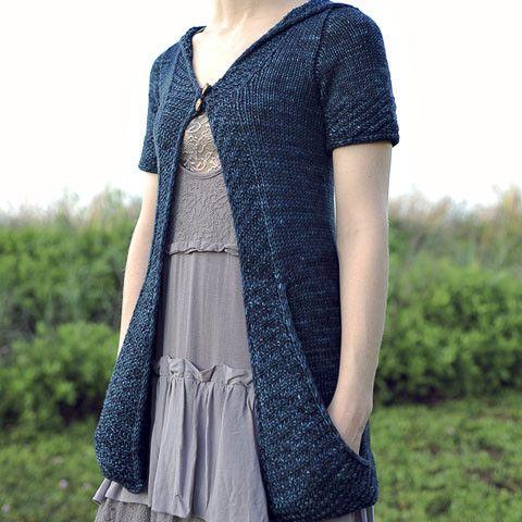 Watercourse - Cardigan Knitting Pattern - Tangled Yarn UK