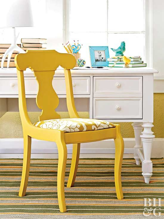 Revamp your whole dining room by reupholstering the chairs.