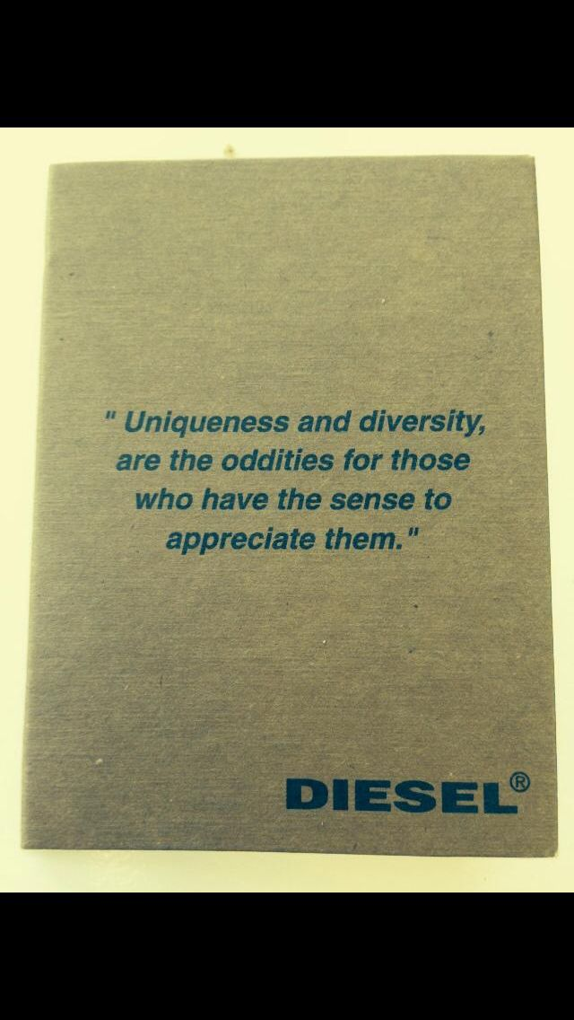 Agreed! Thanks Diesel purse label