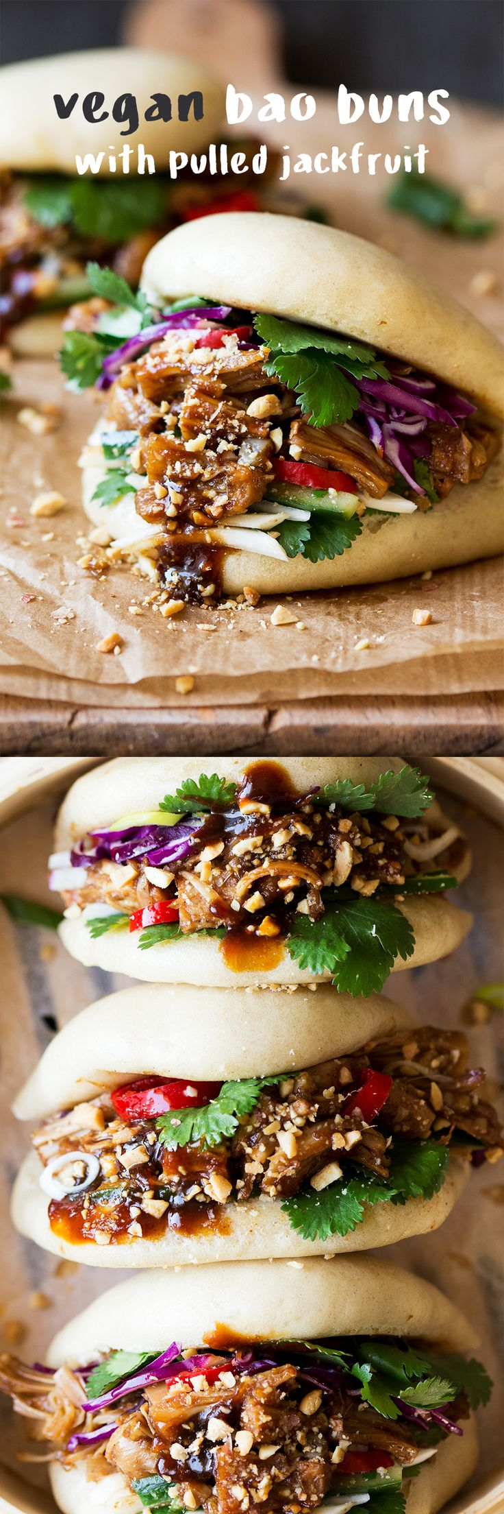 Bao Buns with Pulled Jackfruit (VEGAN)