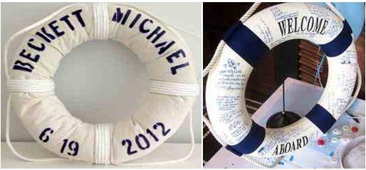 Για πιο ναυτική διάθεση Love Boat Wishes πάνω σε σωσίβιο! Με τυπωμένα τα ονόματα σας και την ημερομηνία του γάμου σας οι καλεσμένοι σας θα κάνουν ουρές να αποτυπώσουν τις ευχές τους!