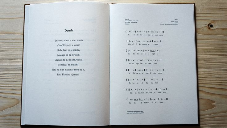 The Song of the Germans: The book that accompanied the installation, the Douala lyrics and arrangement of the German national anthem