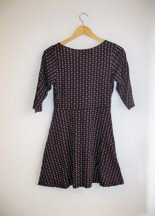 Kup mój przedmiot na #vintedpl http://www.vinted.pl/damska-odziez/krotkie-sukienki/17389670-sukienka-czarna-we-wzory-kwiaty