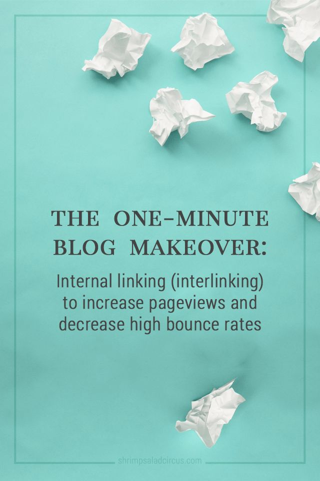 Interlinking (Linking Blog Posts Internally) for MORE Pageviews and Lower Bounce Rate #blogging
