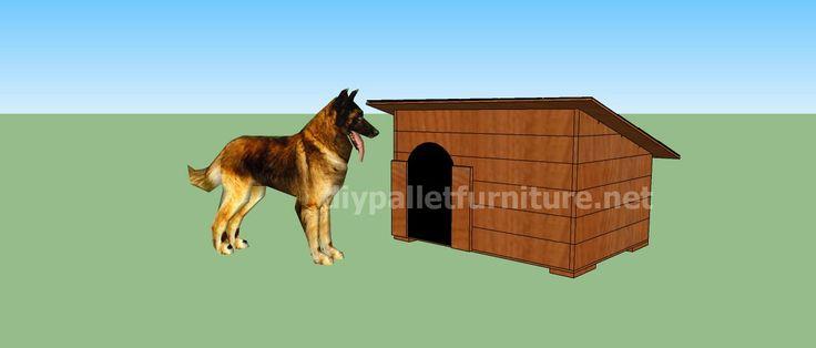Proyecto y planos de caseta para perros hecha con palets