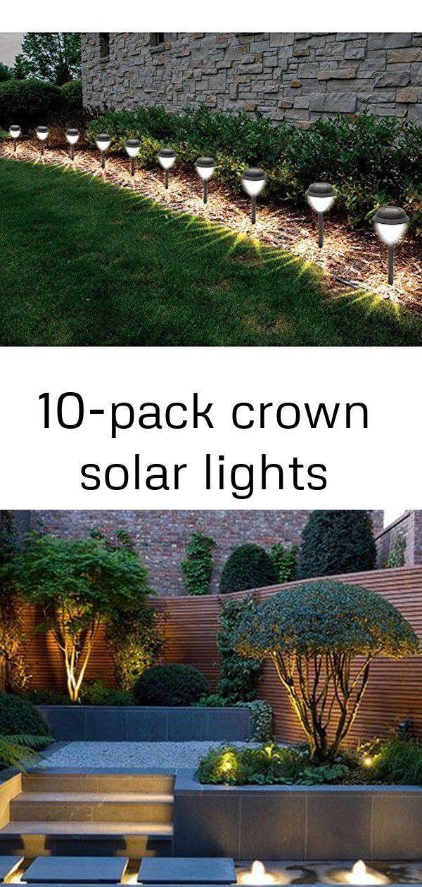 10-pack Crown Solar Lights | Solar Lights, Lights, Garden Bench