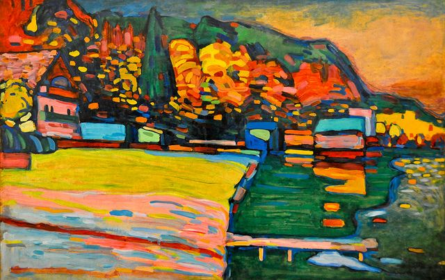 Wassily Kandinsky - Lake Starnberg, 1908 at Tate Modern Art Gallery London England by mbell1975, via Flickr