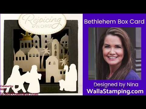 3D Eclipse Card w/Stampin Up! Night In Bethlehem - YouTube