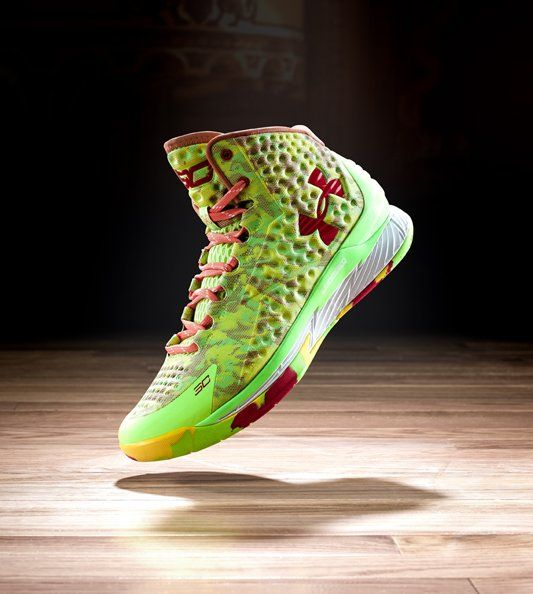 Stephen Curry of the Golden State Warriors wore the brightly colored Under Armour UA Curry One when he won the Foot Locker 3-Point Contest during the NBA All-Star Weekend back on Feb. 14. Now a version of those shoes will be available to both basketball fans and sneakerheads this weekend.