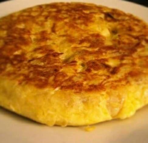 Tortilla mixta - Papa, zapallo anco y avena (ideal bebés y niños) rápida y fácil (sin leche)