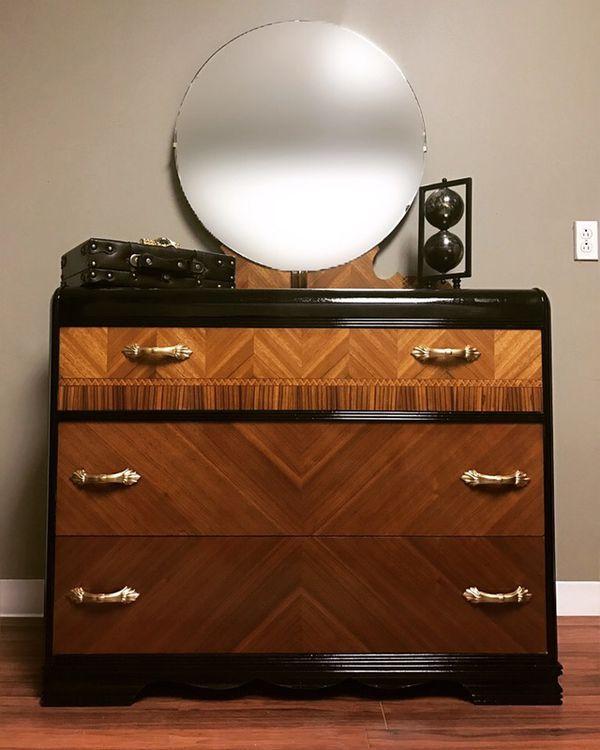 Art Deco Waterfall Dresser For Sale In Southington Ct Offerup Art Deco Waterfall Dresser Art Deco Dresser Art Deco Furniture