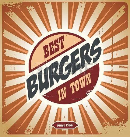 another retro burger logo