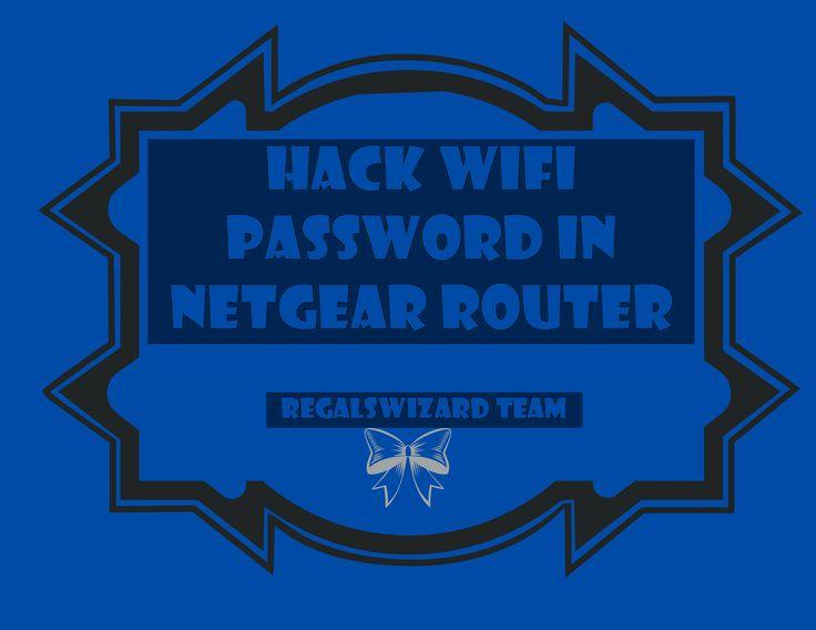 netgear how to change wifi password