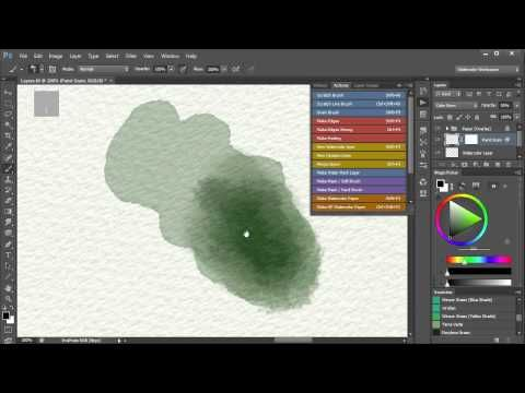 4. Watercolor Painting In Photoshop (including all tools, brushes, papers etc). Video 4