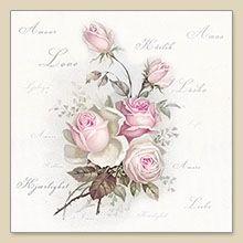 Serwetka papierowa - Love rose - 06503