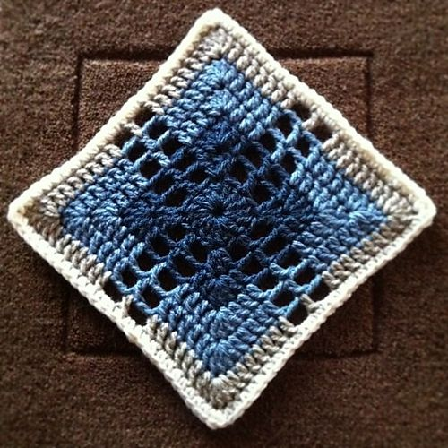 Ravelry: spincushions' Mum's throw; Pattern used is Lacy Cross, Jan Eaton Pattern #19, 200 Crochet Blocks