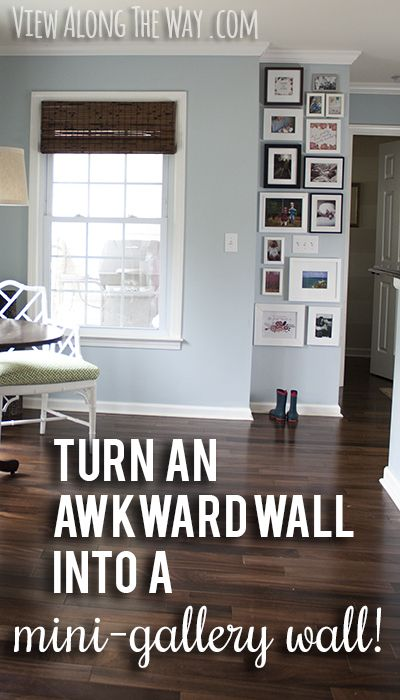 Inspiration for a mini-gallery wall, and insight about
