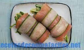 Rollo de pescado y salmon ahumado