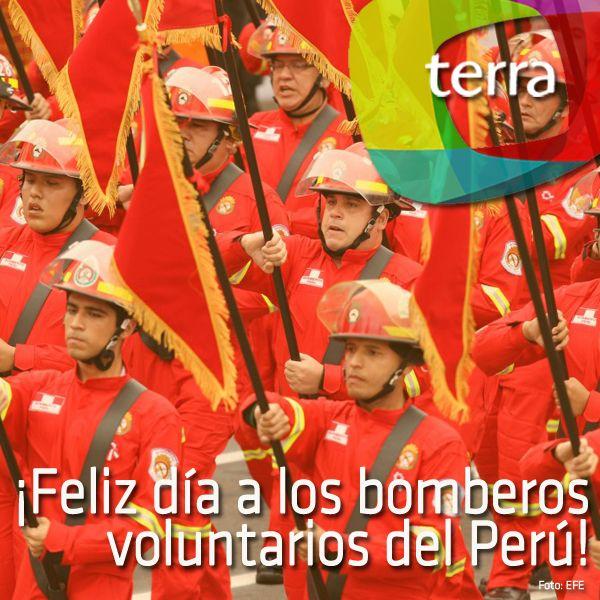 Hoy el Cuerpo General de Bomberos Voluntarios del Perú cumple 153 años de vida institucional. ¡Un saludo a todos los bomberos del Perú y gracias por su noble labor!