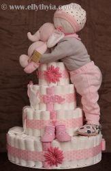 Baby-boy-diaper-cake-blue-elephant
