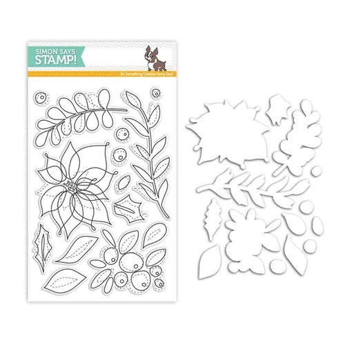 Simon Says Stamps And Dies WINTER FLOWERS Set283WF Believe In The Season Preview Image