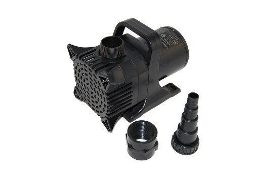 Jebao JGP-25000 520W Pond Pump  SPECS: Dimensions: 9.7″(L) x 6″(W) x 7.6″(H) Power Cord Length (feet) : 33 Maximum Flow: 6600gph Power: 520 Watts Voltage: 110-120V 3.55A Outlet Size: 2-3/4″ & 1-3/4″ BSP male Inlet size: 2-1/4″ BSP male Great for ponds, streams, and extra large fountains and waterfalls Great for ponds, streams, and extra large fountains and waterfalls Max flow rate: 6600gph (25000L/hour) Max head: 26 ft. Great for ponds, streams, and extra large fountains and waterfal..