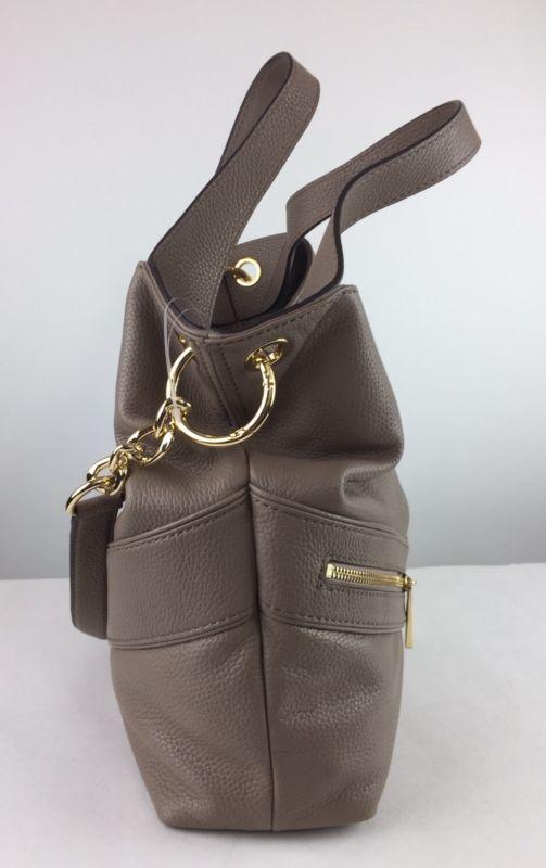 Новый с ценниками $368 michael kors jamesport большая на плечо ручная женская сумка с короткими ручками темная дюна кожаная ручная женская сумка хобо