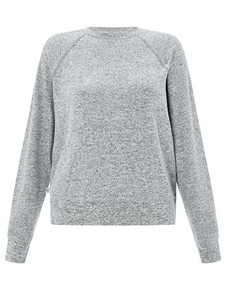 Perfect for throwing over your athleisure look, our grey marl sweat top from the Spirit of Accessorize collection is crafted from ultra-soft fabric with shim...