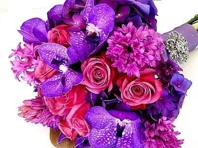 Stunning purple bouquet!