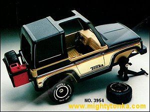 1980 Tonka Toys Mighty Tonka Trucks. Had this because I specifically remember changing the tires on this vehicle.