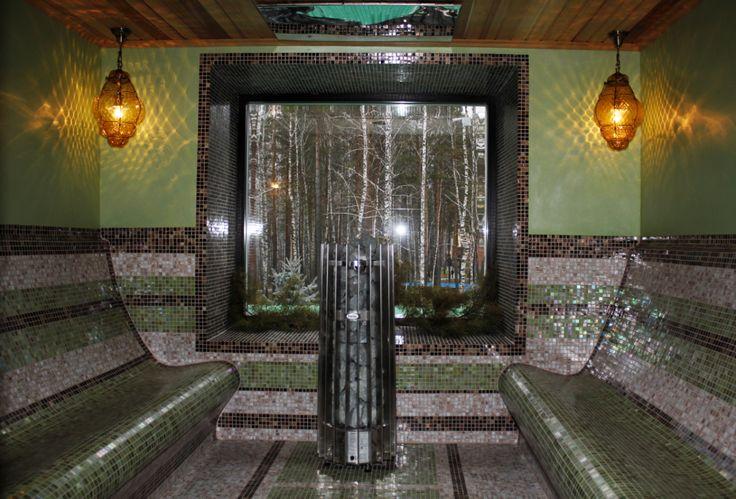 Терморелакс в лечебном бассейне спортивного комплекса. В комплекс терморелакса входит традиционная финская сауна, аромо-сауна, комната отдыха, чайная комната, душевые и русский душ. Особенность комплекса в панорамных окнах в каждой сауне, современном дизайне и удобстве для гостей с лечебными путевками. Теперь процедура посещения лечебного минерального бассейна включает в себя посещение терморелакса.