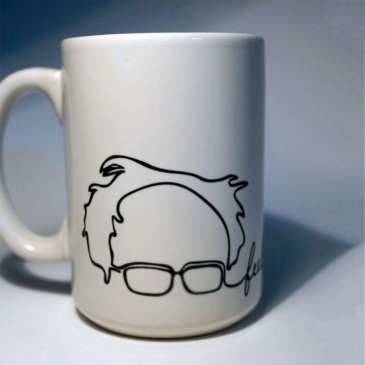 Feel The Bern Bernie Sanders For President 2016 Coffee Mug Mugs Democratic Democrat Party Candidate Elect Hillary Clinton Election by kitchenniche on Etsy https://www.etsy.com/listing/266568057/feel-the-bern-bernie-sanders-for