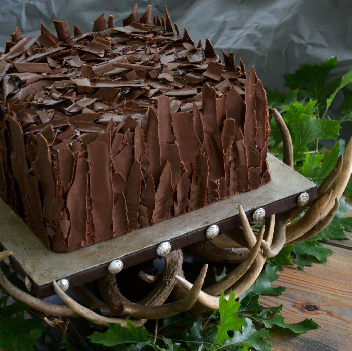 Wedding Grooms Cake Chocolate Shard Cake On Deer Antler