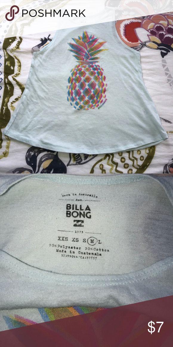 Billabong Girls Pineapple Tank Super fun girls Billabong tank! In great condition! Feel free to make an offer! Billabong Shirts & Tops Tank Tops