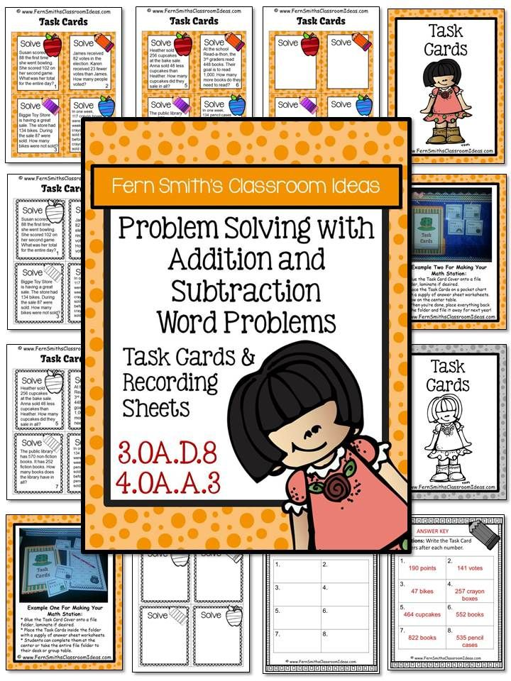 Free Problem Solving With Addition And Subtraction Task