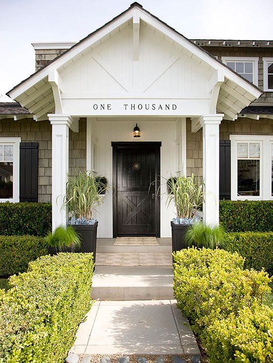 House numbers can be a fun way to add a playful punch of style to your front door.