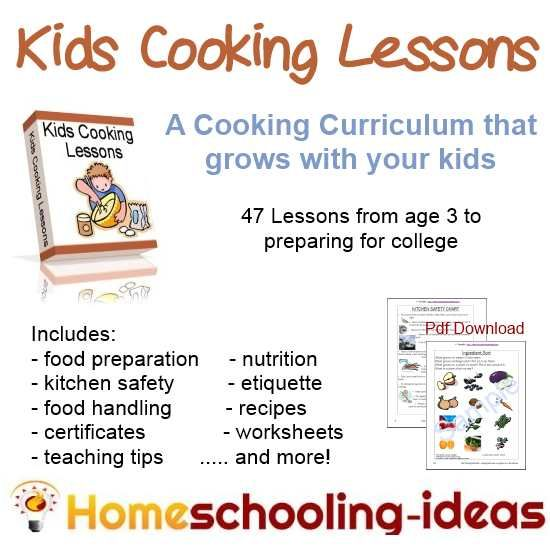 Cooking lesson plans for high school