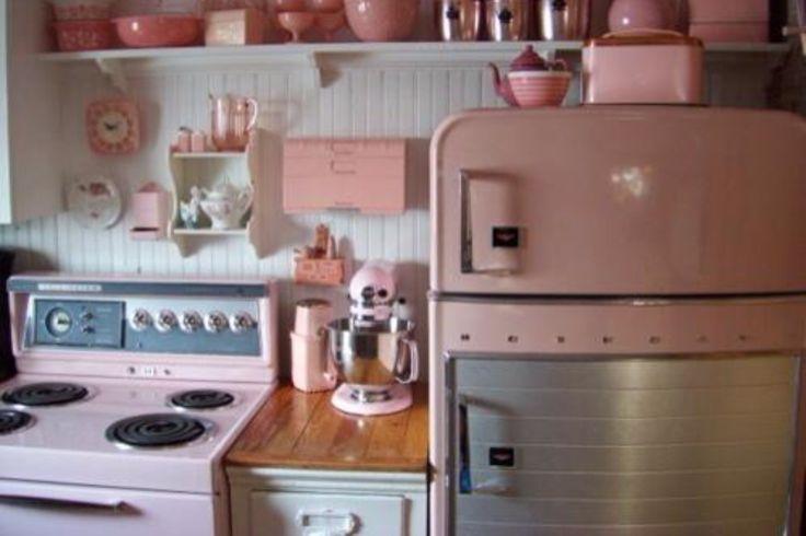 Mid Century Modern ?~? pink kitchen  Mid Century Modern Madness
