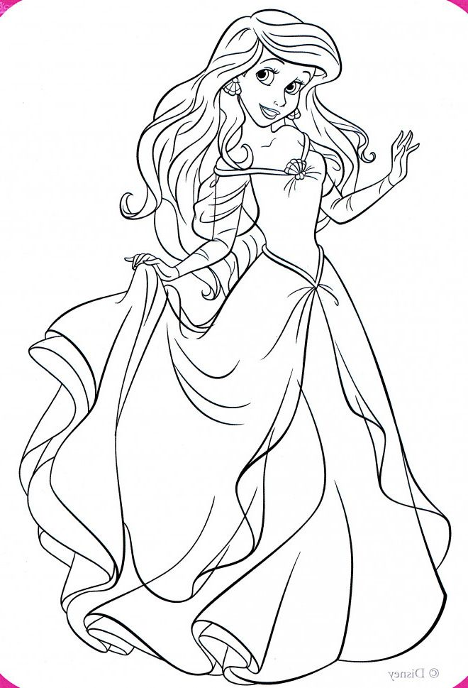 Coloriage La Princesse Ariel Elegante Coloriage Coloriage Disney Coloriage Princesse Disney
